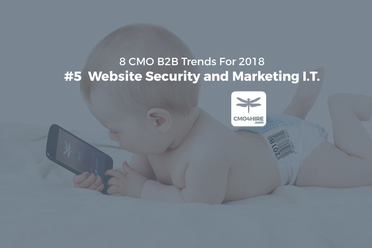 8 CMO Trends for 2018: #5  Website Security and Marketing I.T.