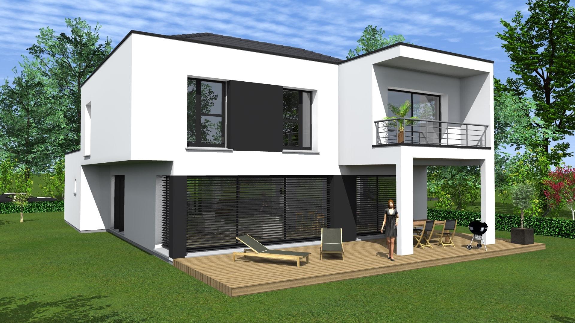 Cabinet de maitrise doeuvre C  Projet dune maison contemporaine faux toit plat HautRhin 68