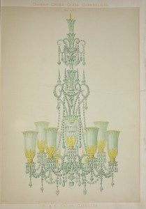 19th century F. and C. Osler glass chandelier trade catalog. Bib #92821