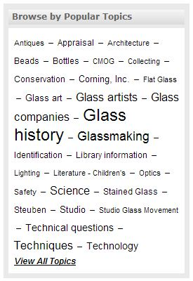 tag cloud that allows for browsing by subject