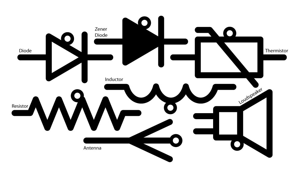 3D Printed Electronic Schematic Symbol Christmas Ornaments