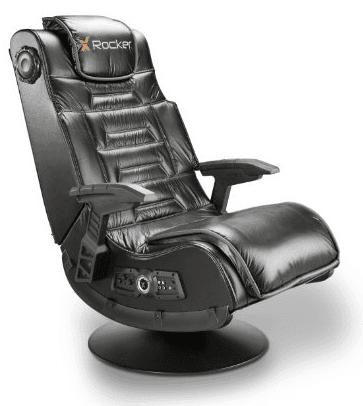 video game chair old metal chairs x rocker pro series pedestal gaming