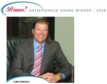 Bravo Entrepreneur Award Winner 2008 Chris Rebholz