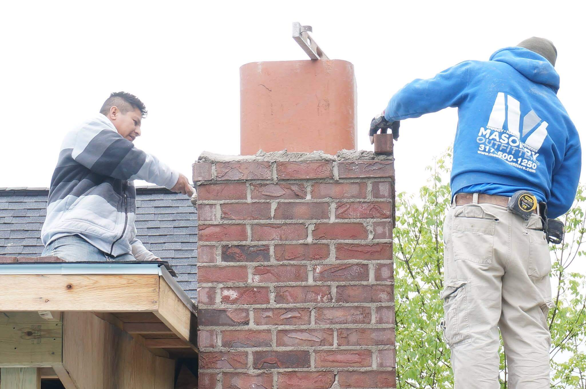 Chimney Rebuild  Indianapolis  Chimney  Masonry Outfitters
