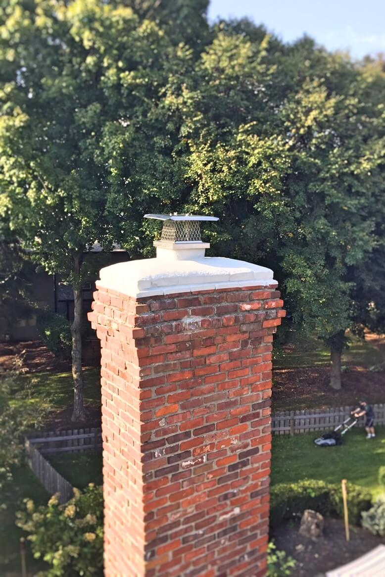 Concrete Crown Repair  Replacement  Indianapolis Chimney