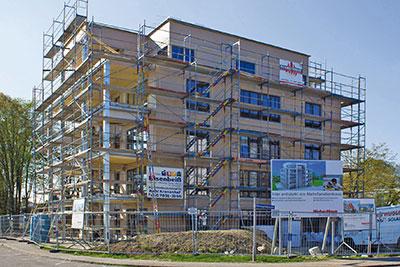 Weberhaus livre un immeuble bois de cinq tages