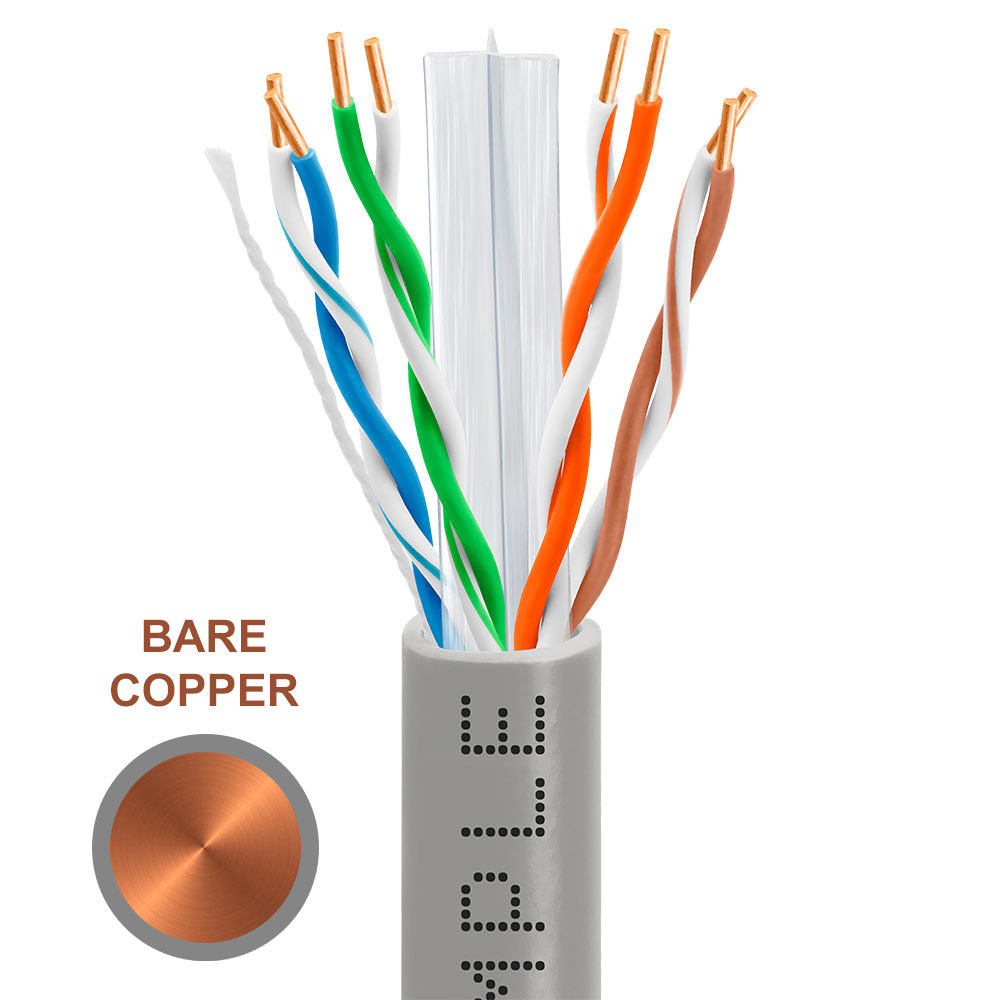 medium resolution of cat6 bulk ethernet cable 23awg bare copper 550mhz