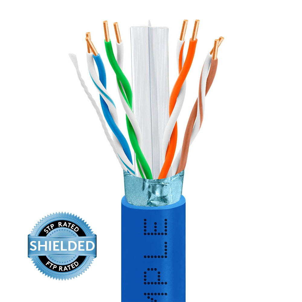medium resolution of cat6 bulk stpftp ethernet cable 23awg bare copper