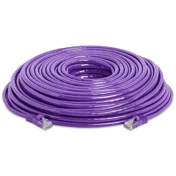 Rj45 1000 Mbps Cat 5e Ethernet Lan Network Purple Cable -100 Ft