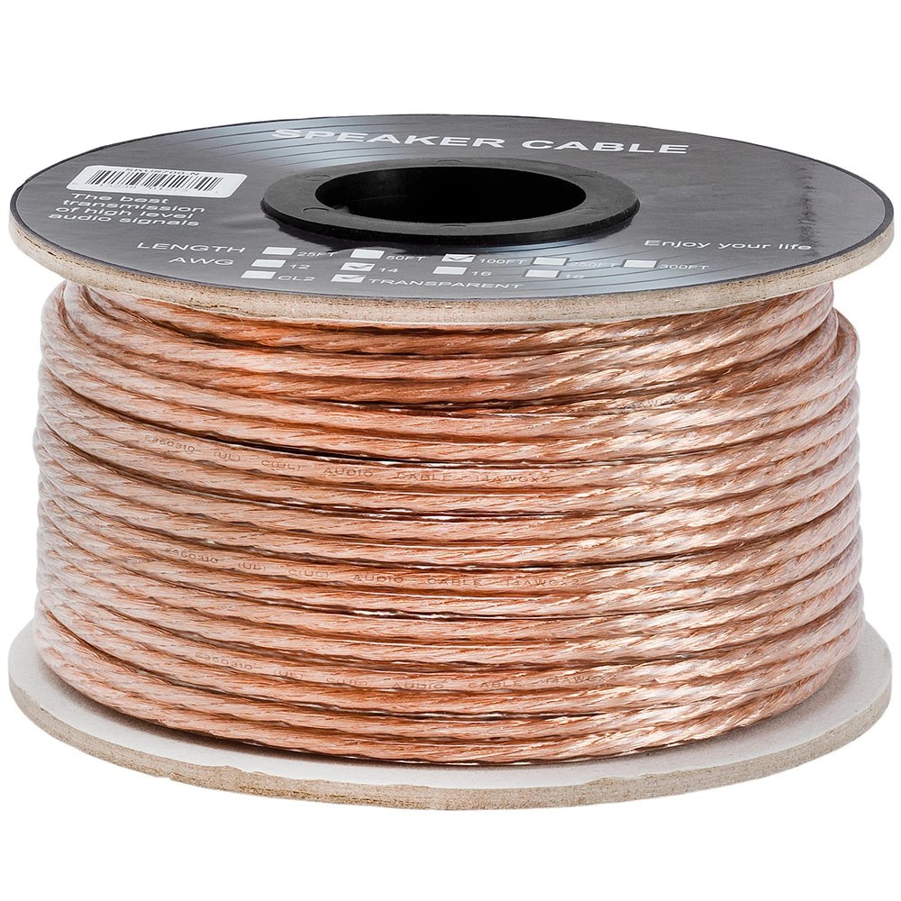 hight resolution of cmple 2 conductor 14awg speaker wire for home theater system amplifier car audio