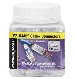 platinum tools 202010j ez rj45 cat6 connector jar of 100 nid0007781 jpeg [ 1000 x 1000 Pixel ]