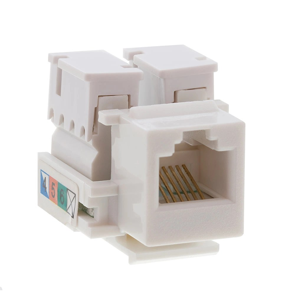 medium resolution of rj12 keystone jack white