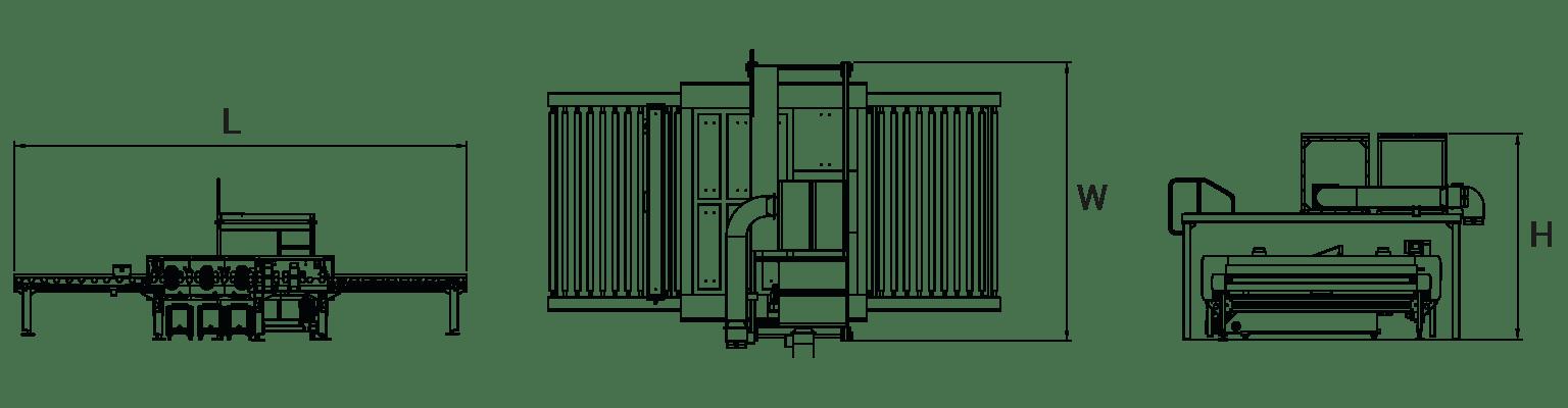 HGW-horizontal-glass-washing-machine-Layout