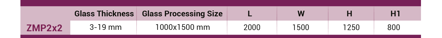 ZMP-double-cross-belt-arrising-machine-Technical-Table