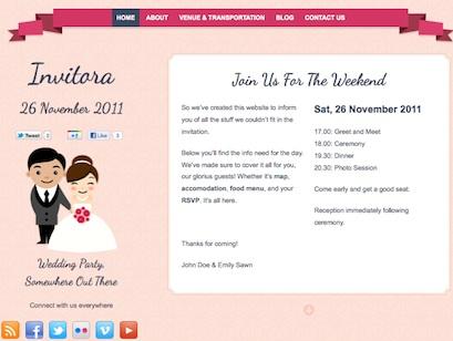 Wedding Invitation Creation Websites. Ever After Responsive ...