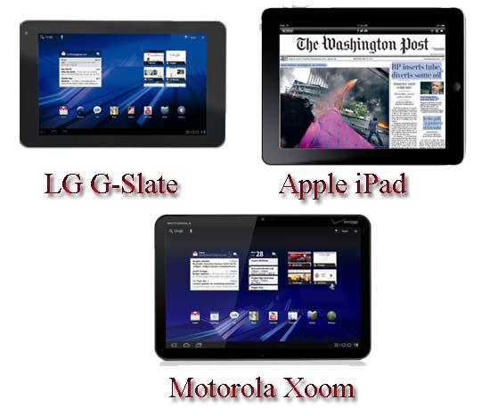 LG G-Slate vs Apple iPad vs Motorola Xoom – A comparison