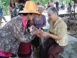 Songkran in Chiang Mai - Elders