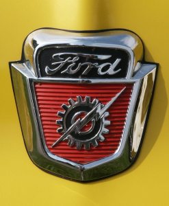 1953, 1954, 1955, 1956 Ford Truck Hood Emblem - Shield