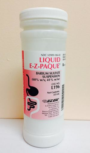 Liquid EZPAQUE Barium Sulfate Suspension 355mL