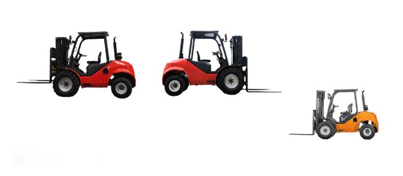 2WD Rough Terrain Forklifts 1.8T/2.5T/3.5T