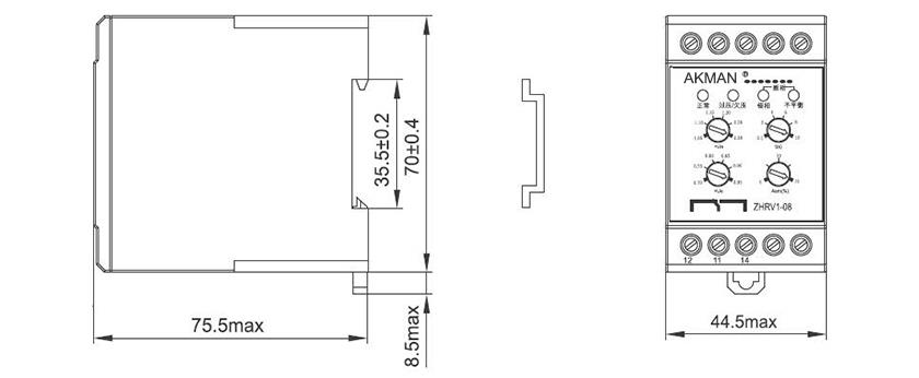 China Unbalanced Voltage Relay AC220V Manufacturers