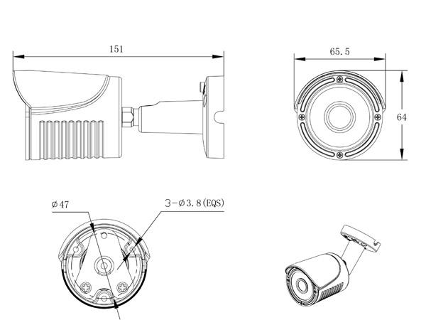 1080P 960H Sony 2.1MP CCD 3.6mm Lens Hybrid Starlight IR