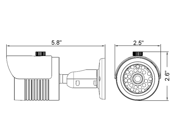 1080P Sony 2.4MP CCD 3.6mm Lens HD-SDI IR Bullet Camera, White