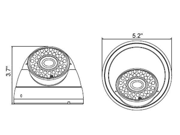 1080P 720P 960H Sony 2.4MP CMOS 2.8-12mm Lens HD-IP IR