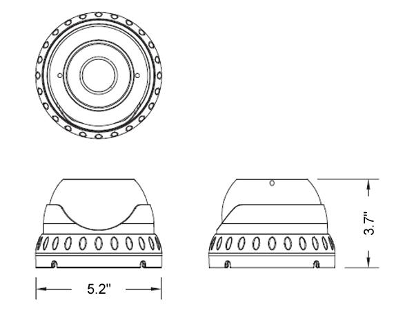 5MP Sony 2.8-12mm Lens Hybrid IR Dome Camera, White
