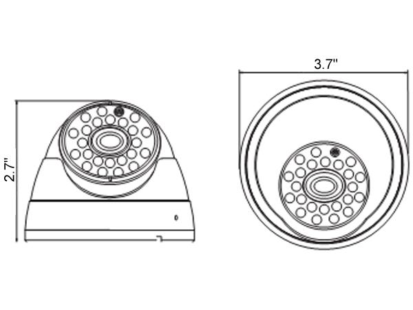 960P 720P 960H Sony 1.3MP CCD 3.6mm Lens AHD IR Dome