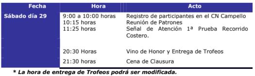 Programa VI Regata Círculo Industrial de Alcoy