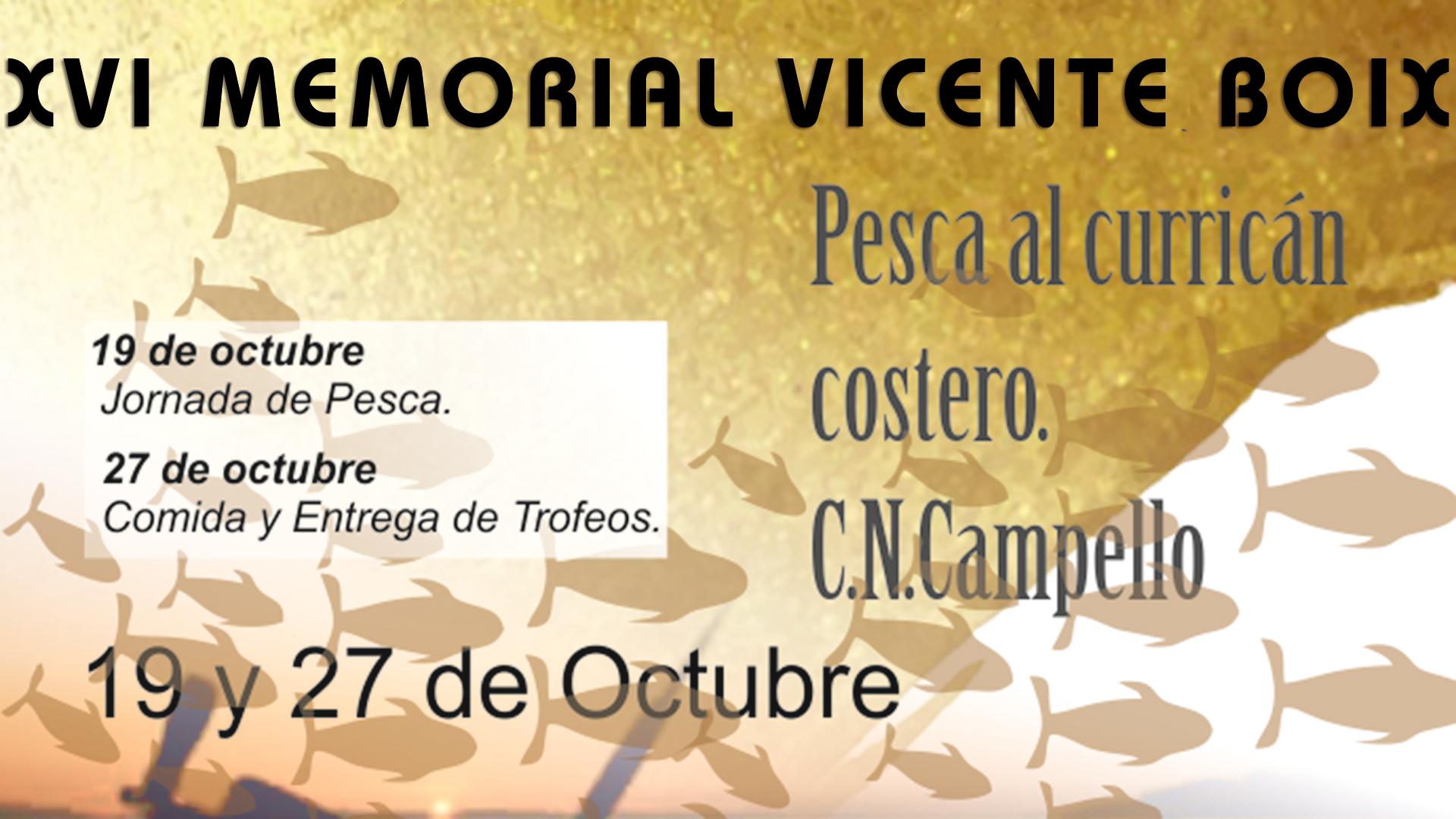 XVI Memorial Vicente Boix - Club Náutico Campello