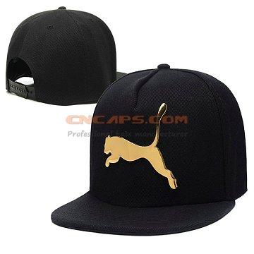Custom metal plate on baseball cap classic