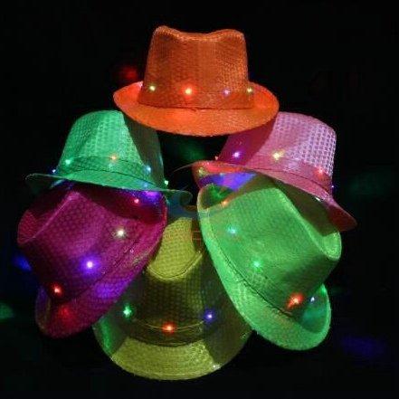 led fedora hat