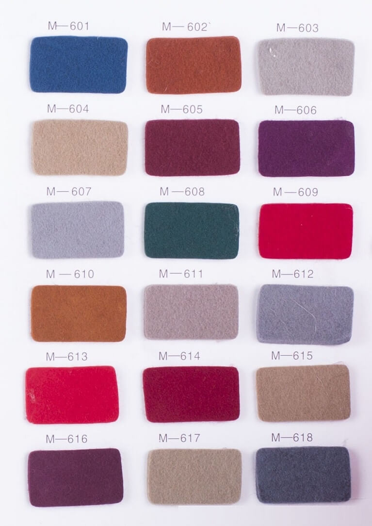 Wool fabric color options