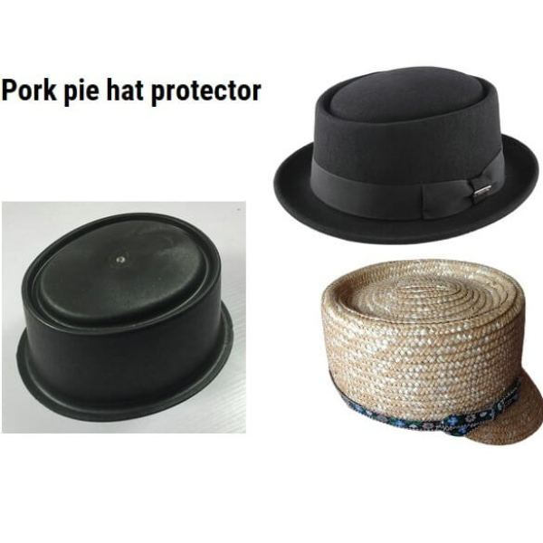 Pork pie hat dustproof plastic cover