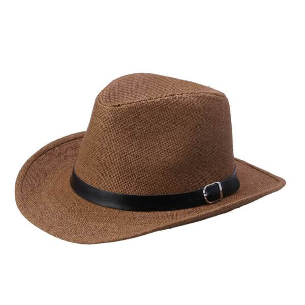 cowboy straw hat brown