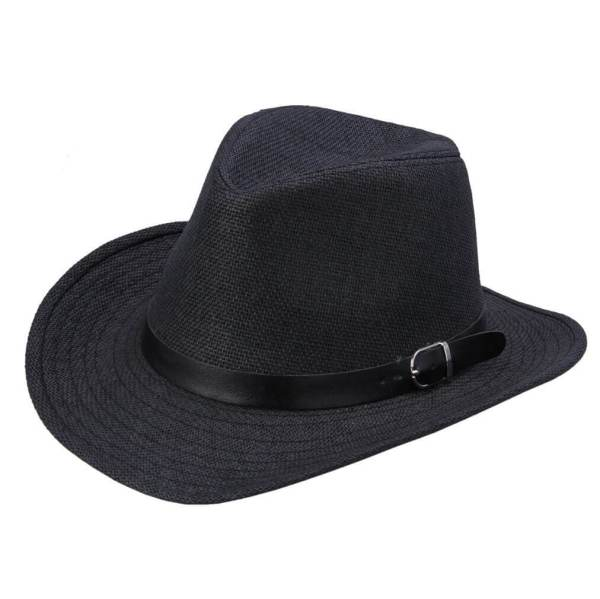 cowboy straw hat black