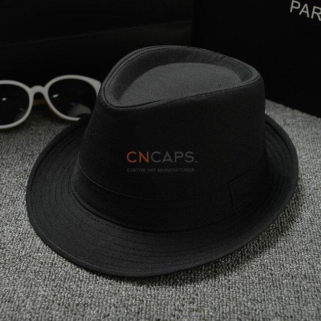 black classic fedora hat