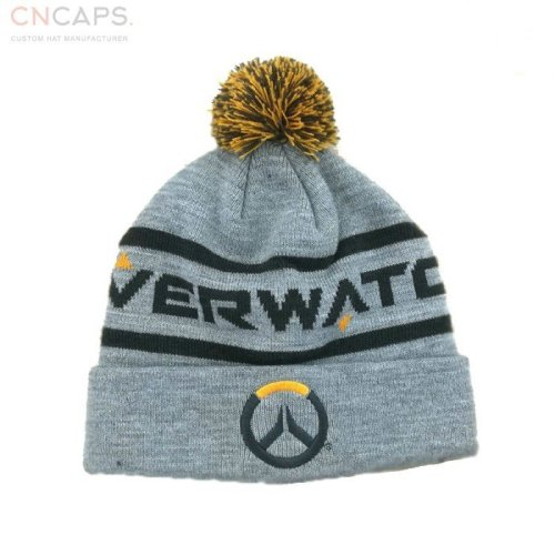 Jacquard knit hat