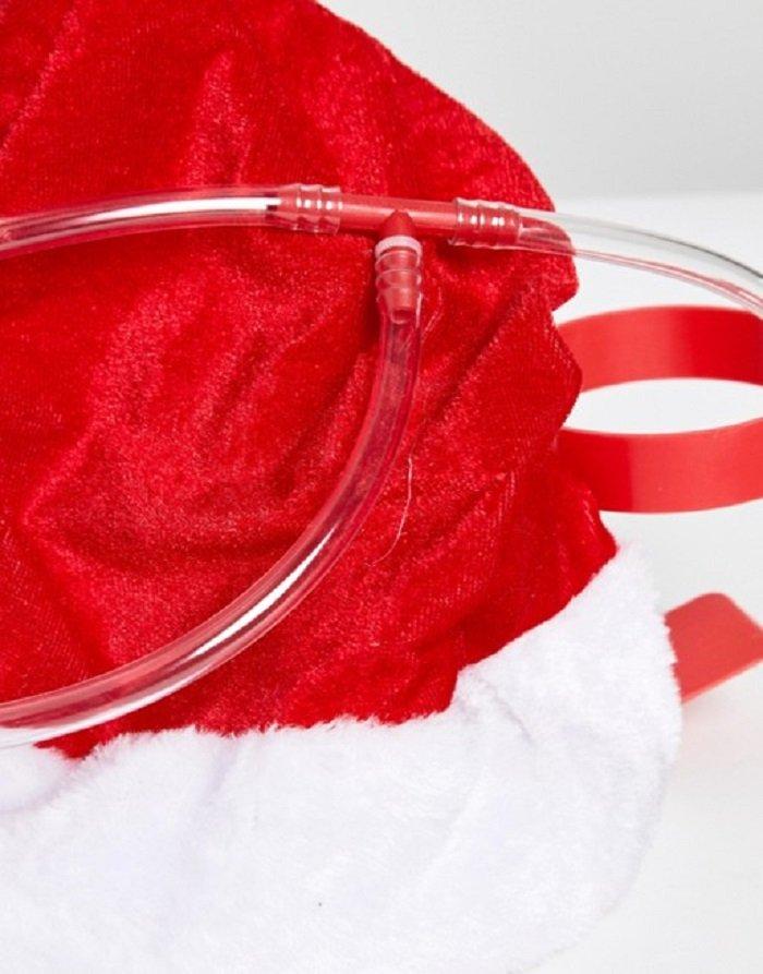 Santa drinking hat