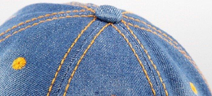 distressed jean cap