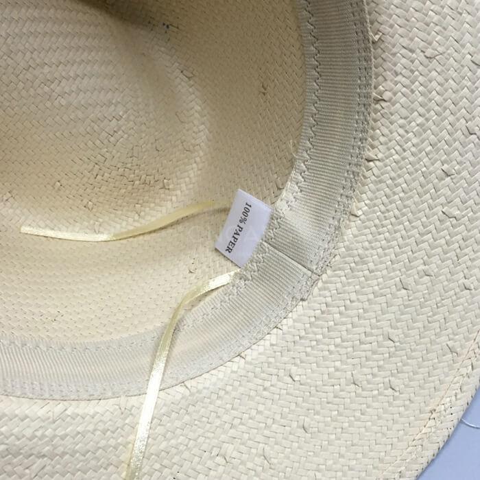 straw hat inside photo