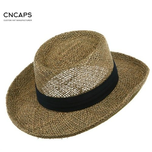 e596c3f2678 Custom made men s straw gambler hat golf sports