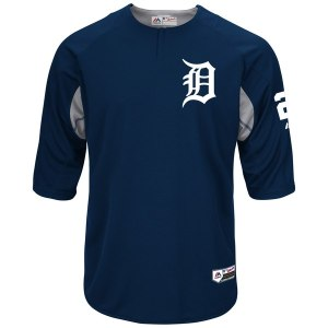 Men's Detroit Tigers Miguel Cabrera Majestic Navy Authentic Collection On-Field Player Batting Practice Jersey