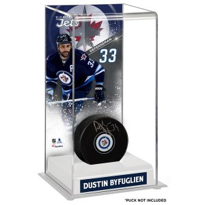 Winnipeg Jets Dustin Byfuglien Fanatics Authentic Deluxe Tall Hockey Puck Case