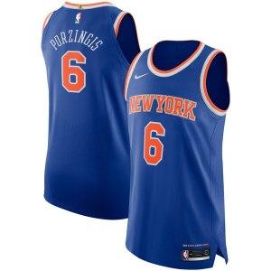 Men's New York Knicks Kristaps Porzingis Nike Blue Authentic Player Jersey - Icon Edition