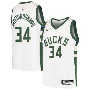 Youth Milwaukee Bucks Giannis Antetokounmpo Nike White Swingman Jersey