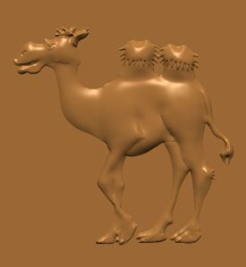this is an image of a free cnc pattern of a camel.