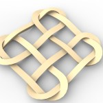 this is an image of a celtic nopt pattern for cnc carving